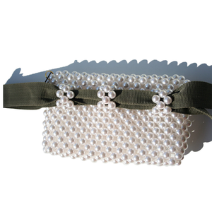 Pearl Beaded Belt Bag