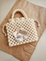Pearl Twin Handle Beaded Bag