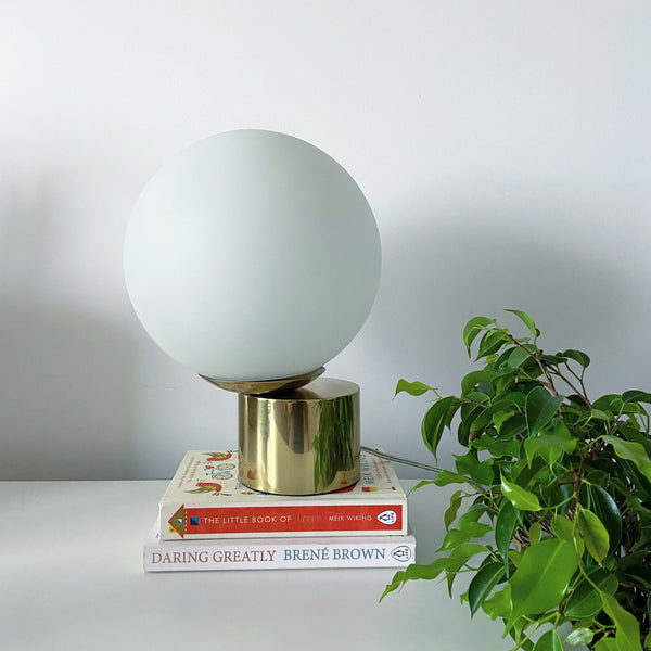 Cliffhanger Glass Globe and Stainless Steel Lamp - Lamp