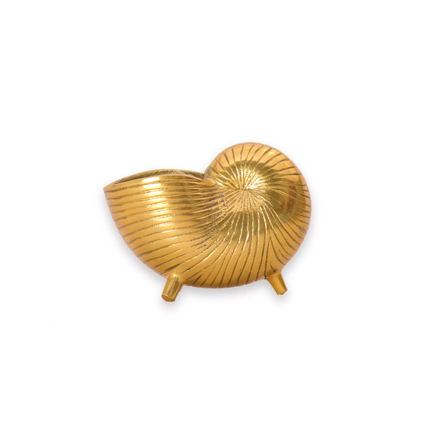 Mini Snail Shell Planter / Pen Stand / Vase in Gold 1 BHK Interiors