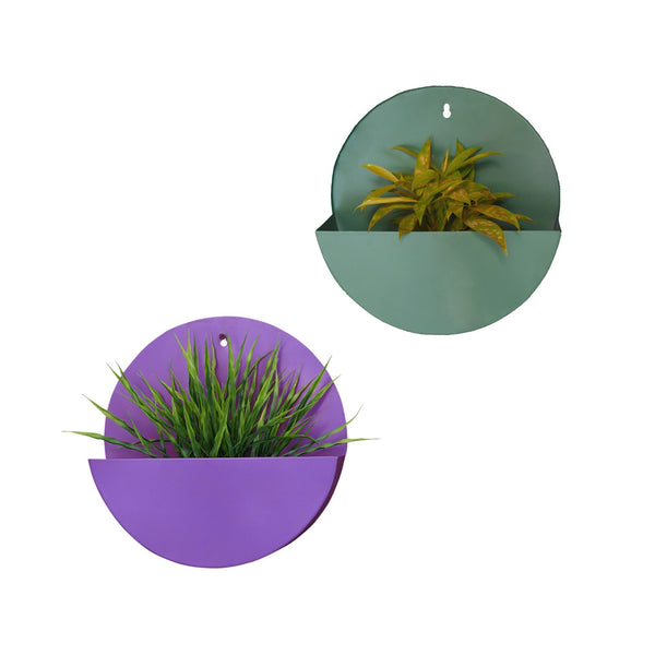 "1 BHK Interiors ""Lunar"" Hanging Metal Mounted Wall Planter / Letter Box in 4 Colours"
