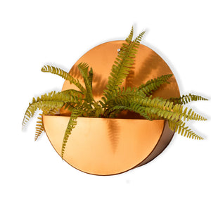 """Lunar"" Hanging Metal Mounted Wall Planter / Letter Box in Rose Gold 1 BHK Interiors"