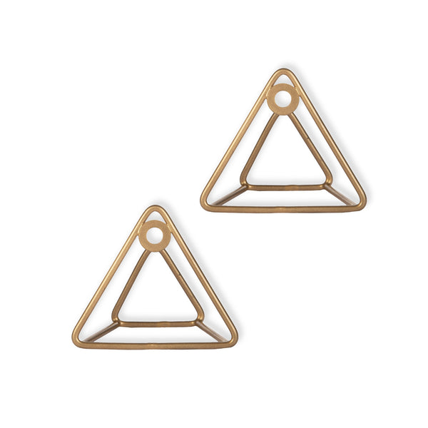 """Mountain Peaks"" Metal Hook in Gold 1 BHK Interiors"