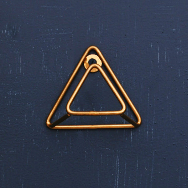 "1 BHK Interiors ""Mountain Peaks"" Metal Hook in Gold"