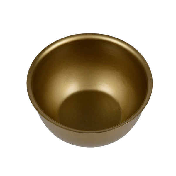 "1 BHK Interiors ""Watermelon"" Metal Candle Holder / Hanging Planter in Gold Finish (Optional Matching Bowl) 1"