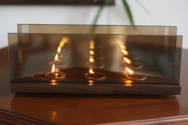 """So Many of Me"" Mirror Finish Tealight Stand 1 BHK Interiors"