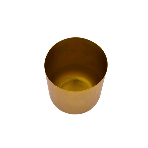 Curved Glossy Metal Table Top Pot / Planter in Rose Gold or Gold 1 BHK Interiors