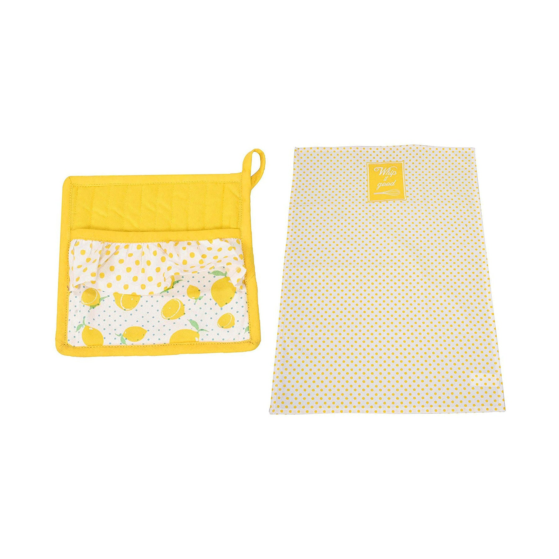 2 Piece Cotton Plate Holder and Wipe Cloth Set 1 BHK Interiors