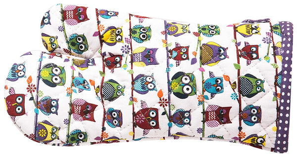 Owl Print Cotton Oven Glove 1 BHK Interiors