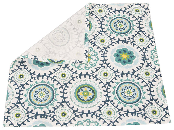 2 Piece Green Garden Cotton Kitchen Dishcloth Set 1 BHK Interiors