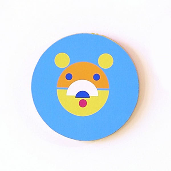 Kids Bear Canvas Wall Hangings - Wood Wall Hangings