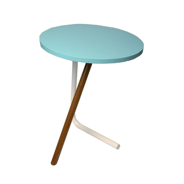 """Bend the Knee"" Wood & Metal Side Table 1 BHK Interiors"