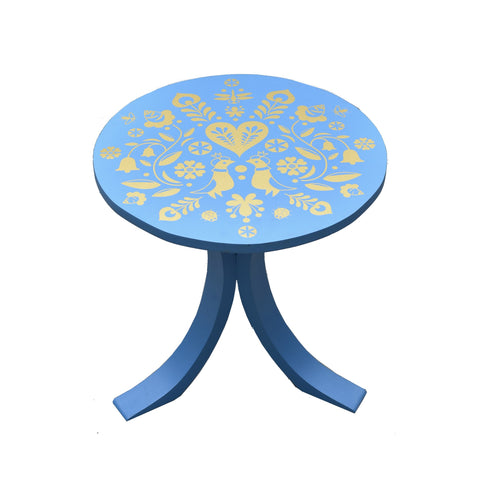 Summertime Mini Table in Blue - Summertime Mini Table in Gold