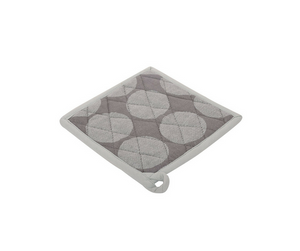 Cotton Polka Dot Hot Plate Holder in Grey 1 BHK Interiors