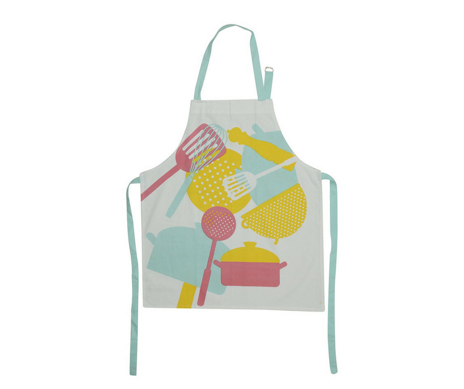 "Cotton ""Kitchen Things"" Apron 1 BHK Interiors"