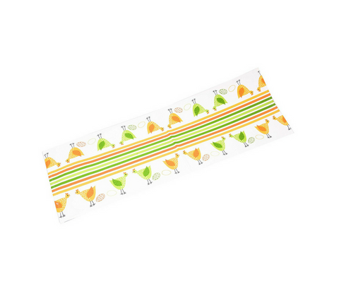 Chicken & Egg Cotton Table Runner - Multi-Color 1 BHK Interiors