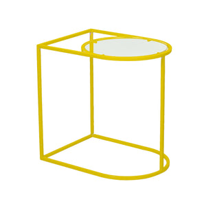 """Mind the Gap"" Metal & Acrylic Side Table - Choose from 3 colours 1 BHK Interiors"