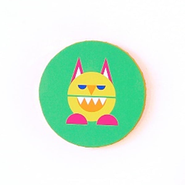 Kids Monster Canvas Wall Hangings - Wood Wall Hangings