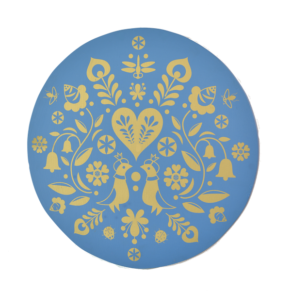 Summertime Wall Hanging in Blue - Summertime Wall Hanging in Gold
