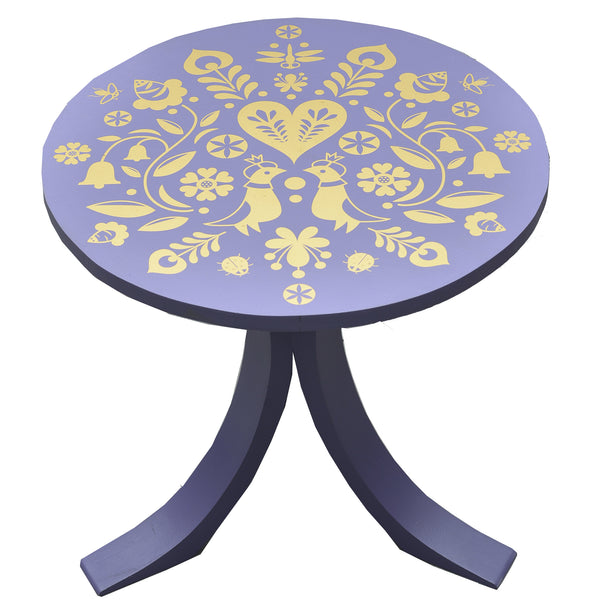 Summertime Mini Table in Purple - Summertime Mini Table in Gold