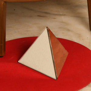 Pyramid Table Mirror Ornament in Gold or Rose Gold Finish 1 BHK Interiors