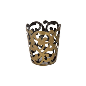 Metal Filigree Antique Look Tealight Candle Holder 1 BHK Interiors