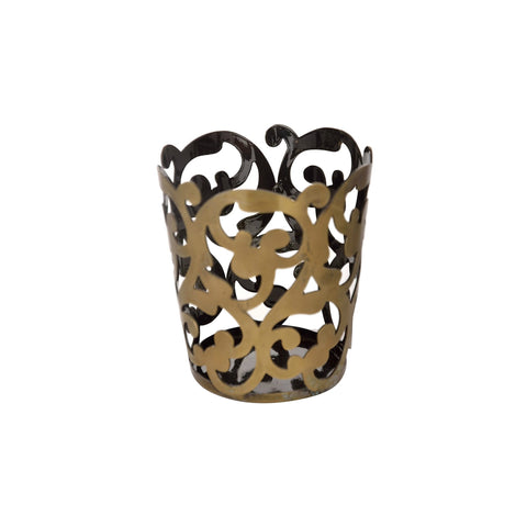 Tealight Candle Holder - Metal Filigree Tealight Candle Holder - Antique Look Tealight Candle Holder