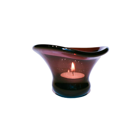 Purple Tealight Lamp in Glass