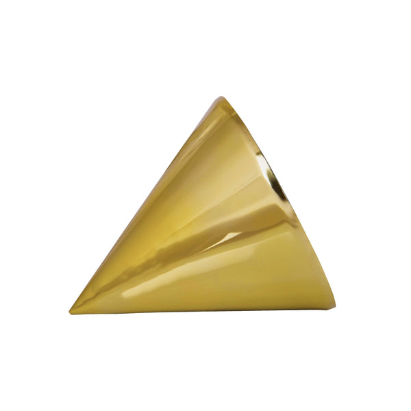 1 BHK Interiors Conical Table Mirror Ornament in Gold or Rose Gold Finish