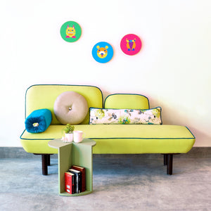 Ba-Na-Na Yellow Love Seat with Trim 1 BHK Interiors