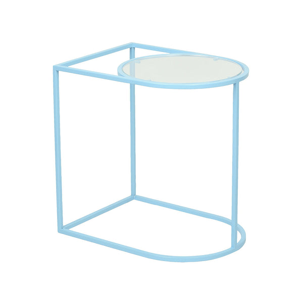 Metal - Acrylic Side Table in Sky Blue