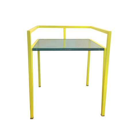 Metal & Acrylic Chair in Yellow 1 BHK Interiors