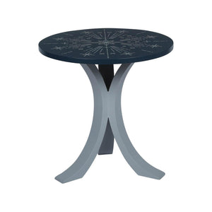 "1 BHK x Studio Kohl ""Nakshatra"" Mini Table / Wall Hanging in Navy Blue & Silver 1 BHK Interiors"