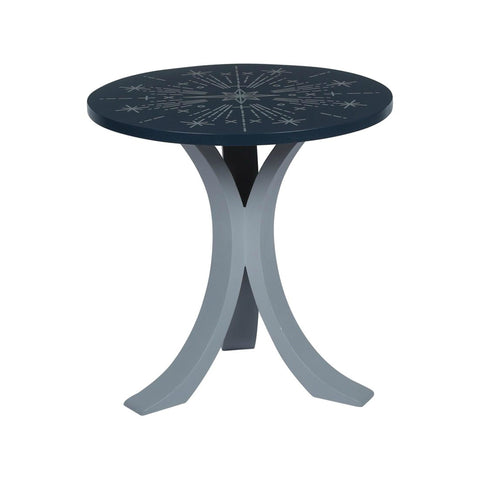 "1 BHK x Studio Kohl ""Nakshatra"" Mini Table / Wall Hanging in Navy Blue & Silver"