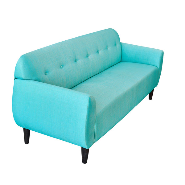 Bjorn Three Seater Sofa in Two Tone Shade with Teak Legs - 3 colour options