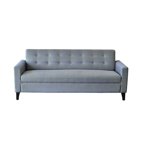 """Bertie"" Two Button Three Seater Sofa in Two Tone Shade with Teak Legs - 3 colour options"
