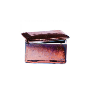 Ceramic Rectangular Treasure Box in Antique Metallic Copper Colour