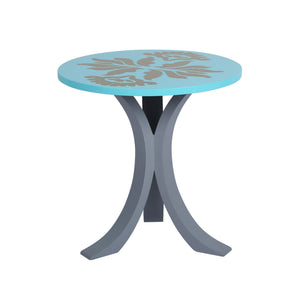 "1 BHK x Studio Kohl ""Ikat 1"" Mini Table / Wall Hanging in Aqua & Gold 1 BHK Interiors"