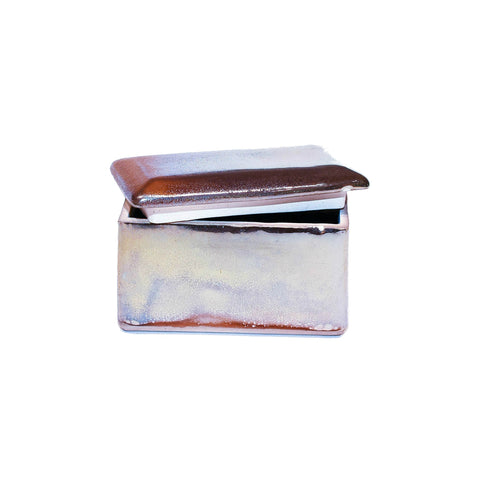Ceramic Rectangular Treasure Box in Antique Metallic Mixed Colour