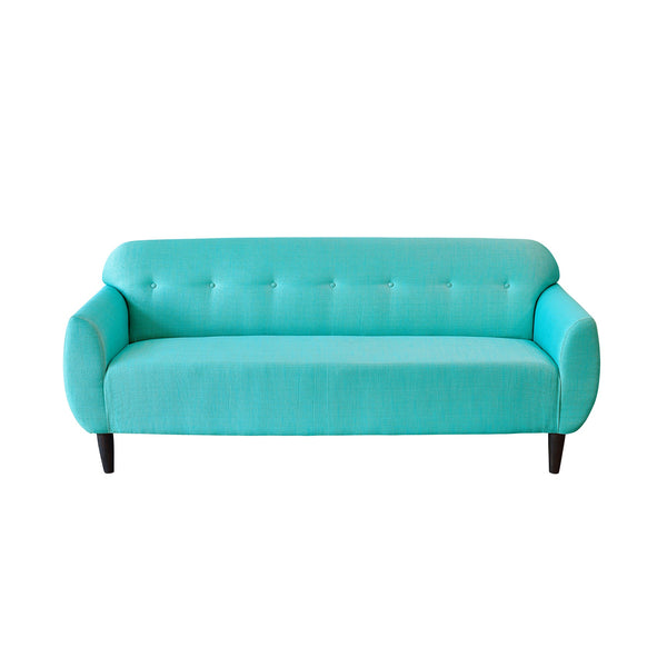 Bjorn Three Seater Sofa in Two Tone Shade with Teak Legs - 3 colour options 1 BHK Interiors