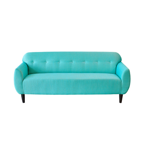 Bjorn Three Seater Sofa in Teal Colour - Two Tone Shade Sofa