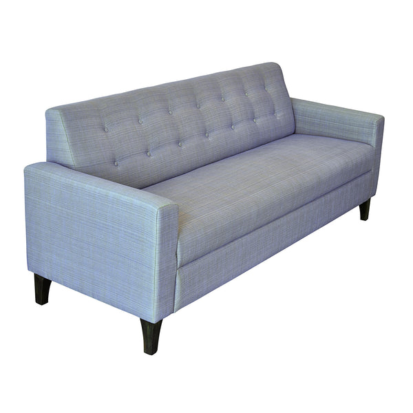 """Bertie"" Two Button Three Seater Sofa in Two Tone Shade with Teak Legs - 3 colour options 1 BHK Interiors"