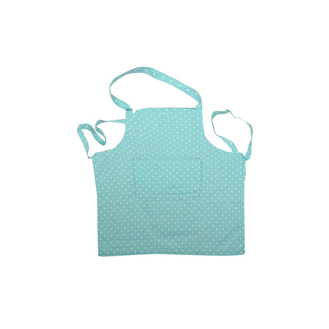Polka Dot Print Cotton Apron in Blue 1 BHK Interiors