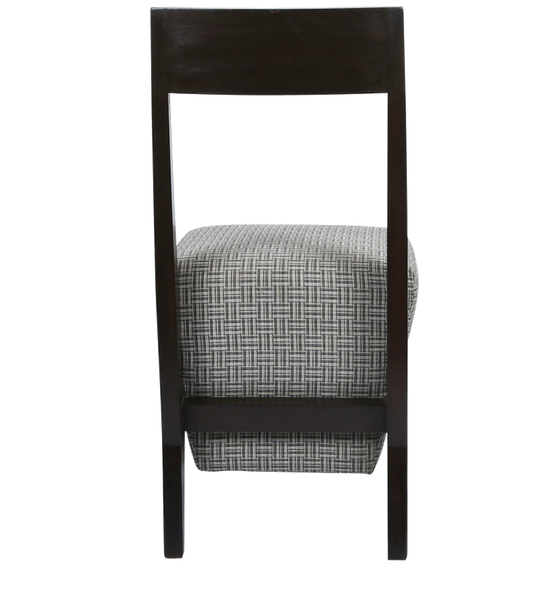 Teak Chair with Box Cushion - Silver Weave Cushion Teak Chair