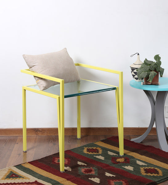 Metal and Acrylic Chair in Yellow