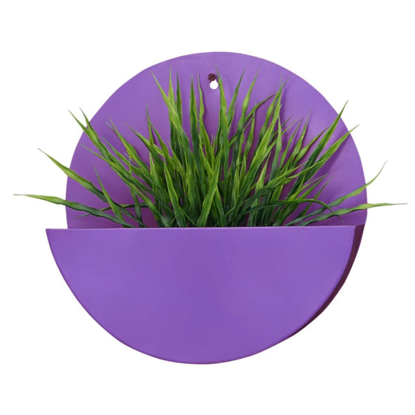 """Lunar"" Hanging Metal Mounted Wall Planter / Letter Box in Violet 1 BHK Interiors"