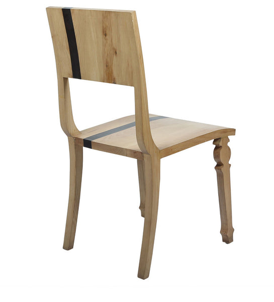"""Slice of Life"" Scandinavian Striped Pine & Walnut Chair"