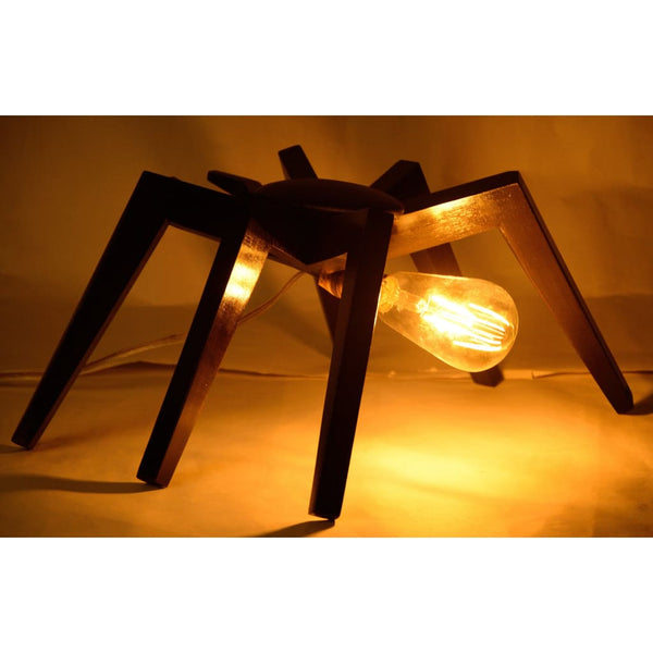 Spidey Sense Wooden Lamp with LED Filament Bulb 1 BHK Interiors