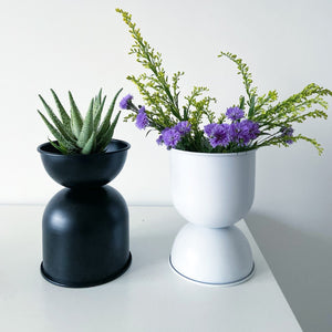Venus Double Decker Metal Planter / Pot in Matte Finish -