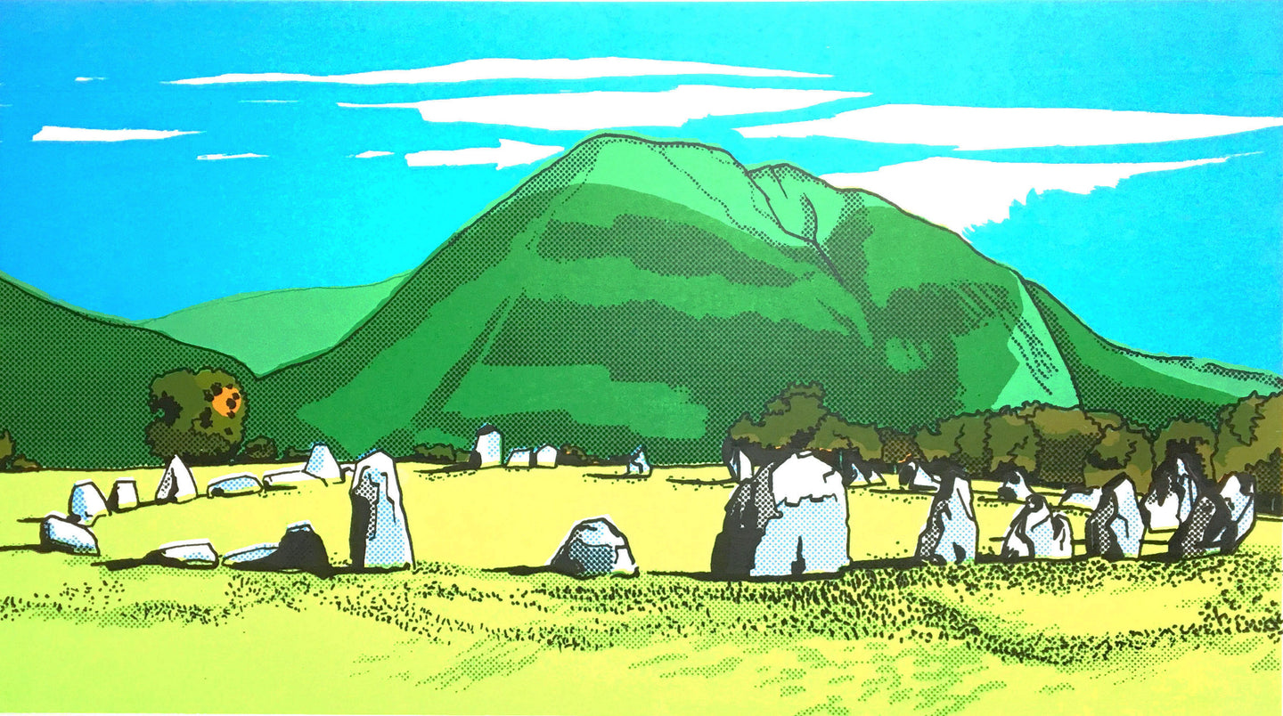 Castlerigg & Blencathra - limited edition screen print by James Bywood